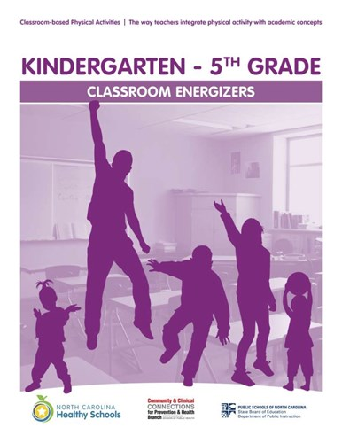Energizers for Kindergarten - 5th grade front cover