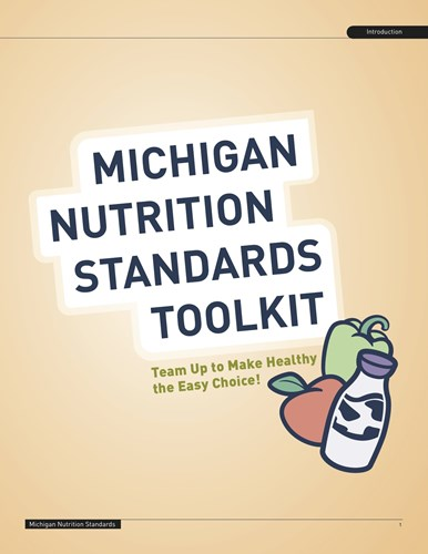 Picture of the Michigan Nutrition Standards Toolkit