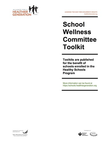 Picture of the School Wellness Committee Toolkit from Alliance for a Healthier Generation